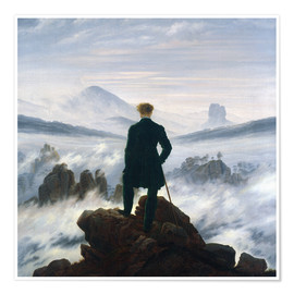 Premium-plakat  Vandreren over tågehavet - Caspar David Friedrich