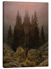 Lærredsbillede  Crucifix in Forest - Caspar David Friedrich