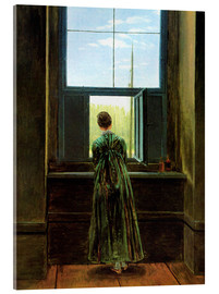 Akrylbillede  Woman at the Window - Caspar David Friedrich
