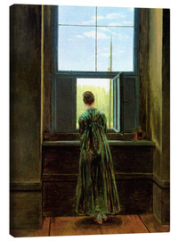 Lærredsbillede  Woman at the Window - Caspar David Friedrich