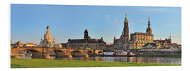 Print på skumplade  Dresden Canaletto view - FineArt Panorama