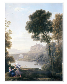 Premium-plakat Landscape with Hagar and the Angel