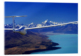 Akrylbillede  Glider over Lake Pukaki - David Wall