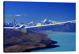 Lærredsbillede  Glider over Lake Pukaki - David Wall