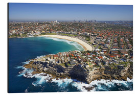 Print på aluminium  Aerial view of Bondi Beach - David Wall