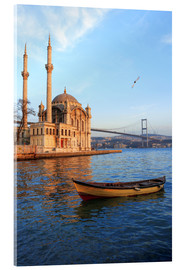 Akrylbillede  Rowboat and Ortakoy Mosque - Ali Kabas