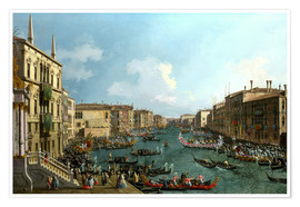 Premium-plakat  Regatta on the Canale Grande - Antonio Canaletto