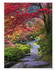 Premium-plakat  Path at Japanese Garden in Autumn - Janell Davidson