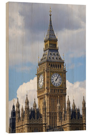 Print på træ  Big Ben and Westminster Palace - David Wall