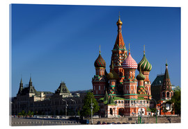 Akrylbillede  St. Basil's Cathedral in Moscow - Walter Bibikow