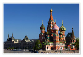 Premium-plakat  St. Basil's Cathedral in Moscow - Walter Bibikow
