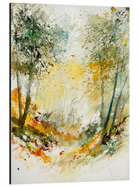 Print på aluminium  The forest in autumn - Pol Ledent