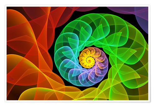 Premium-plakat Fractal 'The colors and the light'