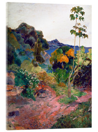 Akrylbillede  Martinique Landscape - Paul Gauguin