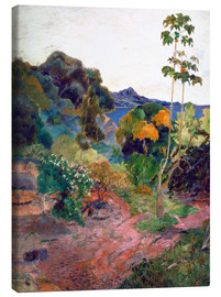 Lærredsbillede  Martinique Landscape - Paul Gauguin