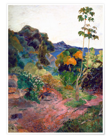 Premium-plakat  Martinique Landscape - Paul Gauguin