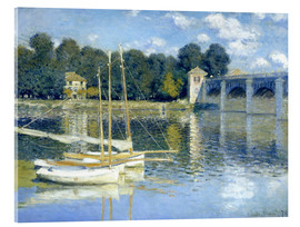 Akrylbillede  The Bridge at Argenteuil - Claude Monet