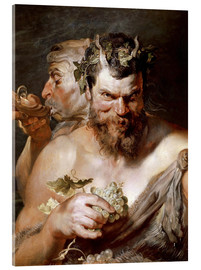 Akrylbillede  Two Satyrs - Peter Paul Rubens