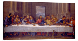 Lærredsbillede  The Last Supper, after Leonardo da Vinci - Nicolas Poussin