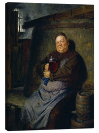 Lærredsbillede  Brother master brewer of beer in the cellar. In 1902. - Eduard Grützner