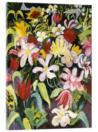 Akrylbillede  Carpet of flowers - August Macke
