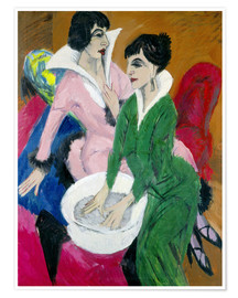 Premium-plakat  Two women with sink (The Sisters) - Ernst Ludwig Kirchner