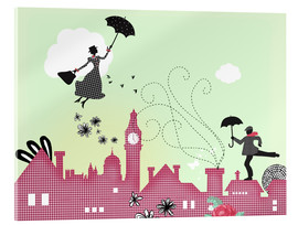 Akrylbillede  Mary Poppins, London - Elisandra Sevenstar