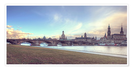 Premium-plakat Dresden, as viewed by Canaletto earlier