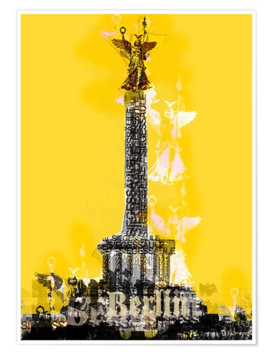 Premium-plakat Berlin Victory Column (on Yellow)