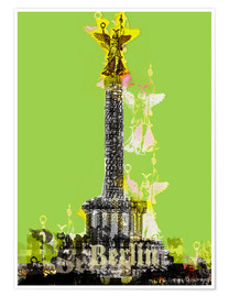 Premium-plakat Berlin Victory Column (on Green)