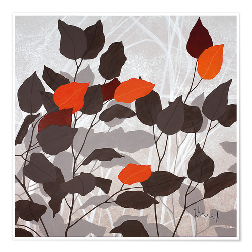 Premium-plakat Autumn leaves III
