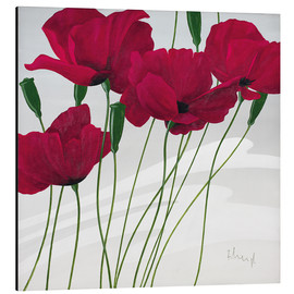 Print på aluminium  Poppies swayed by the wind - Franz Heigl
