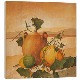 Print på træ  Pumpkins and terracotta - Franz Heigl