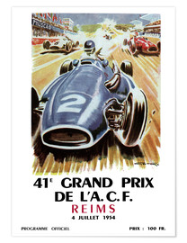 Premium-plakat grand prix reims