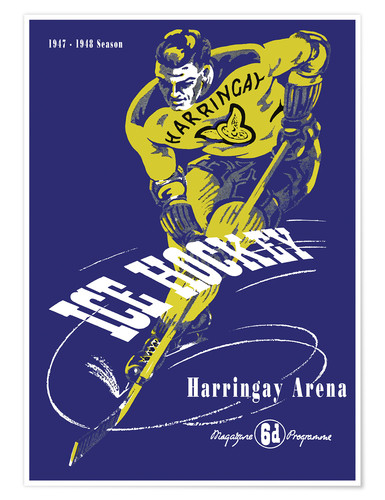 Premium-plakat harringay ice hockey