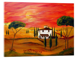 Akrylbillede  Warmth of Tuscany - Christine Huwer