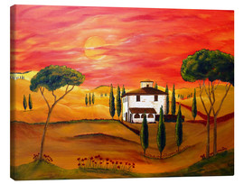Lærredsbillede  Warmth of Tuscany - Christine Huwer