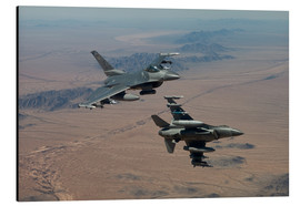 Print på aluminium  Two F16 on a training mission - HIGH-G Productions