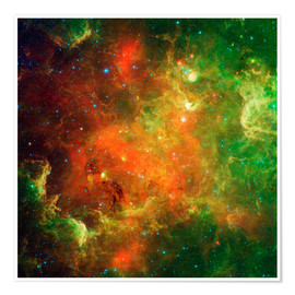 Premium-plakat Clusters of young stars