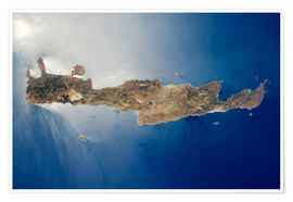 Premium-plakat View from space of the island of Crete