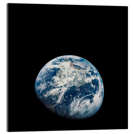 Akrylbillede  Earth from the viewpoint of Apollo 8