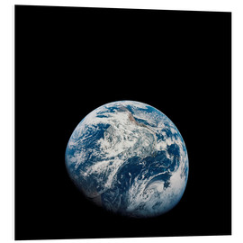 Print på skumplade  Earth from the viewpoint of Apollo 8