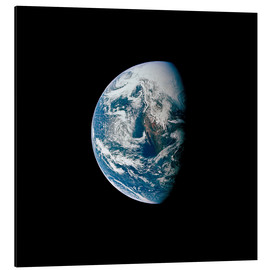 Print på aluminium  View of the Earth from the spacecraft Apollo 13 - Stocktrek Images