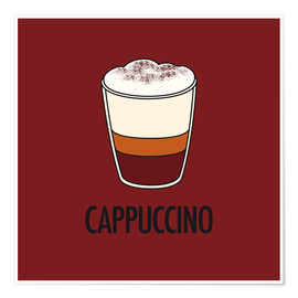 Premium-plakat Cappuccino, for the italian lover in you!