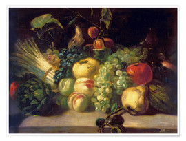 Premium-plakat  Still life with fruits and vegetables - Theodore Gericault