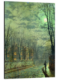 Print på aluminium  Going Home by Moonlight - John Atkinson Grimshaw