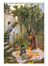 Premium-plakat  The Orange collectors - John William Waterhouse