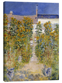 Lærredsbillede  The Artist's Garden at Vetheuil - Claude Monet