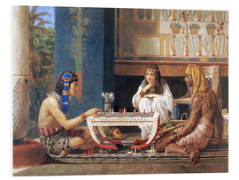 Print på skumplade  Egyptian Chess Players - Lawrence Alma-Tadema