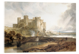 Akrylbillede  Conway Castle, c.1802 - Joseph Mallord William Turner